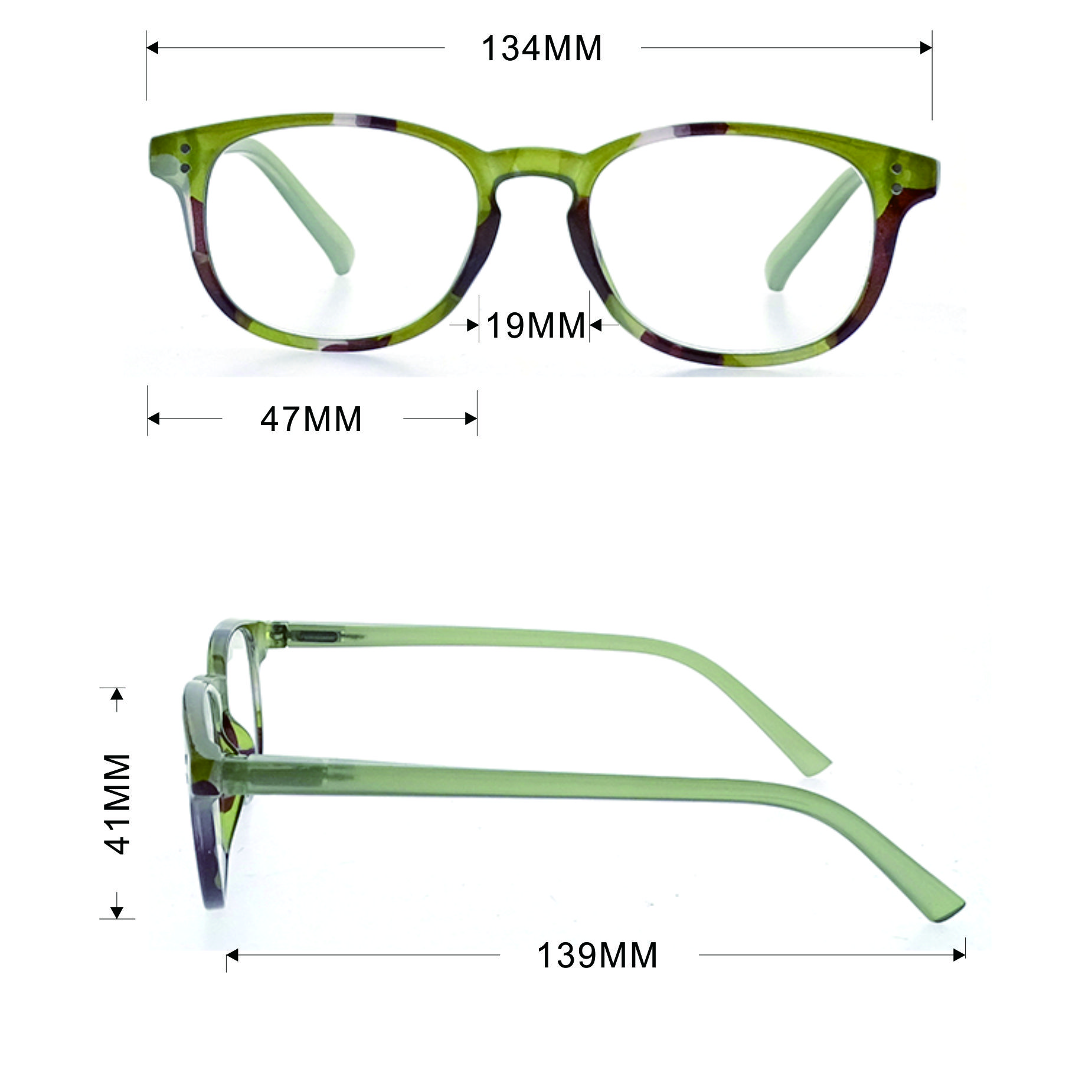 New Arrival Hot Selling High Quality Design Round Style Women Plastic Optical Eyeglasses Frames LR-P5578