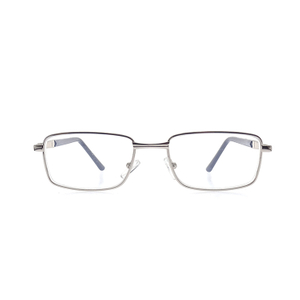 Wholesale metal frame flexible anti blue reading glasses LR-M1553