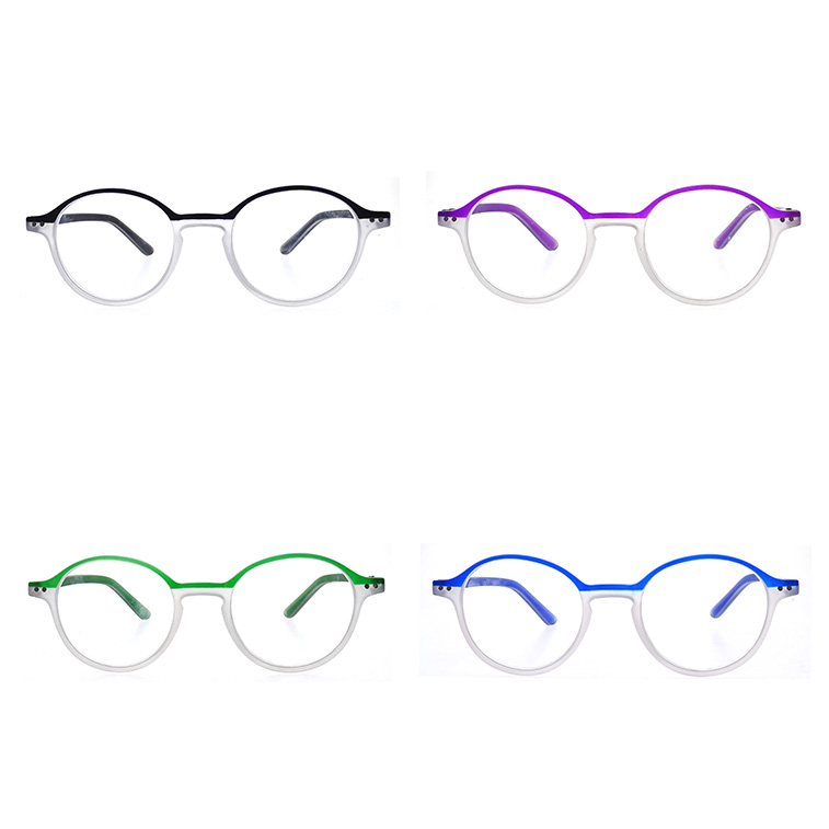 Fashion Round Style Plastic Frame Reading Glasses LR-P6584